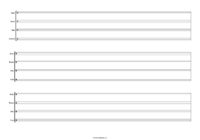 3 System, 1 Bar Drumline Sheet Music: Landscape.