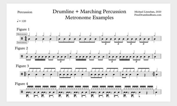 Drumline + Marching Percussion Metronome Examples.